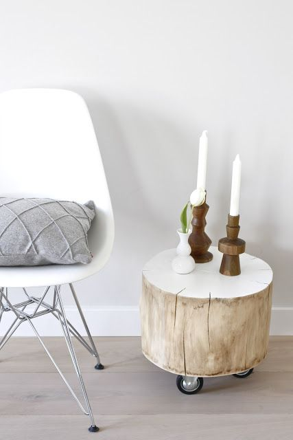 Palju on ideid ja näiteid, kuidas interjööris kasutada ära puupakke, kuid kui juba värvimiseks läheb, pane talle ka rattad alla :)