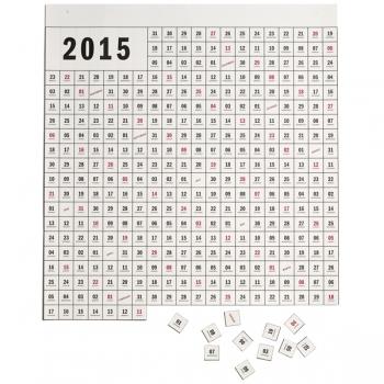 Huvitava kontseptsiooniga kalender, suurusega 65 x 70 cm