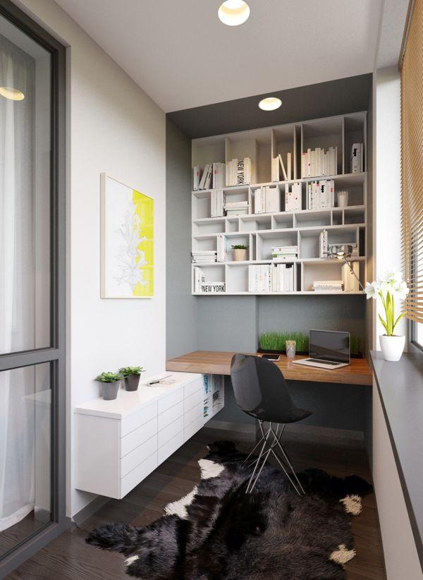Selles kodu-kontoris on mängitud värviga, millega on tõmmatud piirid ja tekitatud nišš. See võib olla vabalt kellegi kinniehitatud rõdu!