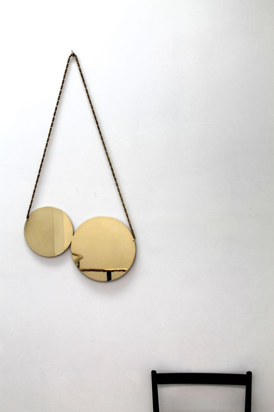 Cherry Mirror - Polished Brass www.laloul.be